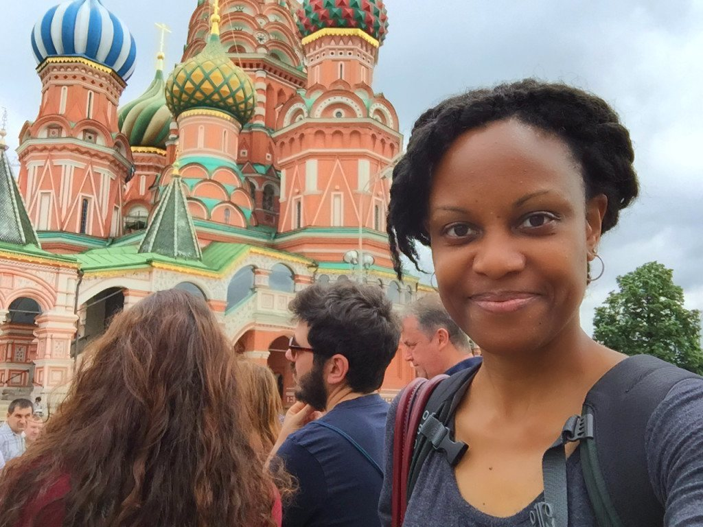 Me in Front of St. Basil's Cathedral in Red Square, Moscow